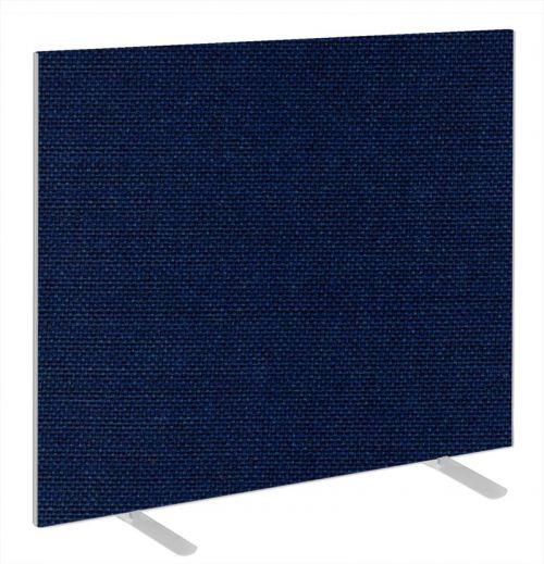 Impulse Plus Oblong 1200/1400 Floor Free Standing Screen Royal Blue Fabric Light Grey Edges