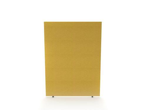 Impulse Plus Oblong 1200/1500 Floor Free Standing Screen Beige Fabric Light Grey Edges