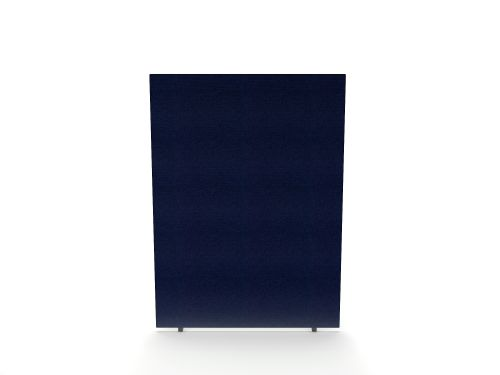 Impulse Plus Oblong 1200/1500 Floor Free Standing Screen Royal Blue Fabric Light Grey Edges