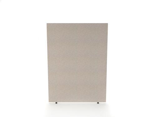 Impulse Plus Oblong 1200/1600 Floor Free Standing Screen Light Grey Fabric Light Grey Edges