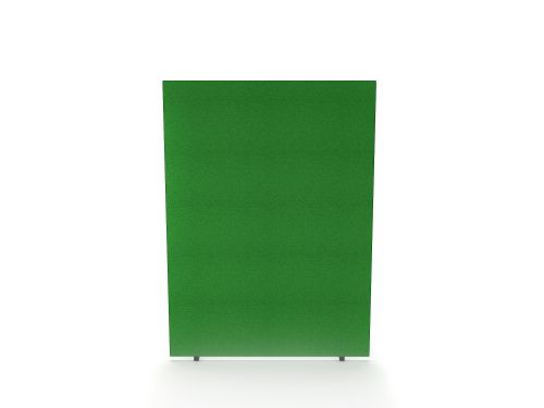 Impulse Plus Oblong 1200/1600 Floor Free Standing Screen Palm Green Fabric Light Grey Edges