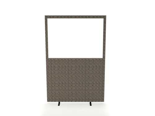 Impulse Plus Clear Half Vision 1200/1600 Floor Free Standing Screen Lead Fabric Light Grey Edges
