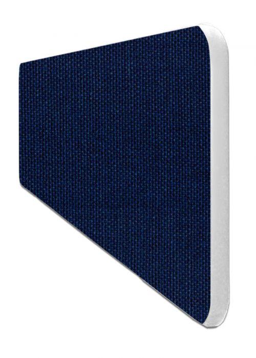 Impulse Plus Oblong 400/600 Desktop Screen Rounded Corners Royal Blue Fabric Light Grey Edges