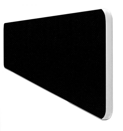 Impulse Plus Oblong 400/1000 Desktop Screen Rounded Corners Black Fabric Light Grey Edges