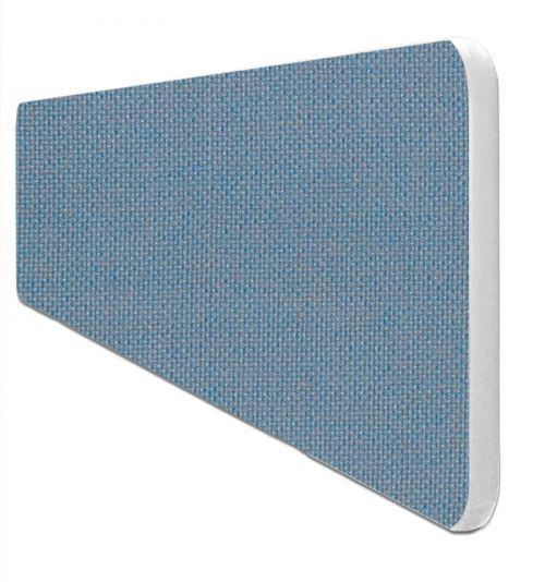 Impulse Plus Oblong 400/1000 Desktop Screen Rounded Corners Sky Blue Fabric Light Grey Edges