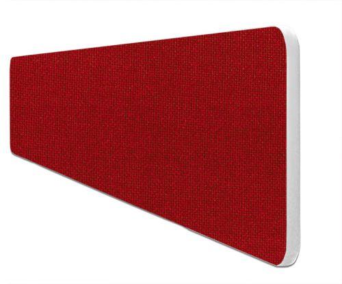 Impulse Plus Oblong 400/1500 Desktop Screen Rounded Corners Burgundy Fabric Light Grey Edges