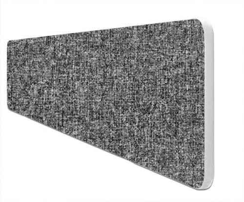 Impulse Plus Oblong 400/1500 Desktop Screen Rounded Corners Lead Fabric Light Grey Edges