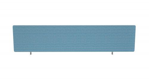 Impulse Plus Oblong 400/1600 Desktop Screen Rounded Corners Sky Blue Fabric Light Grey Edges