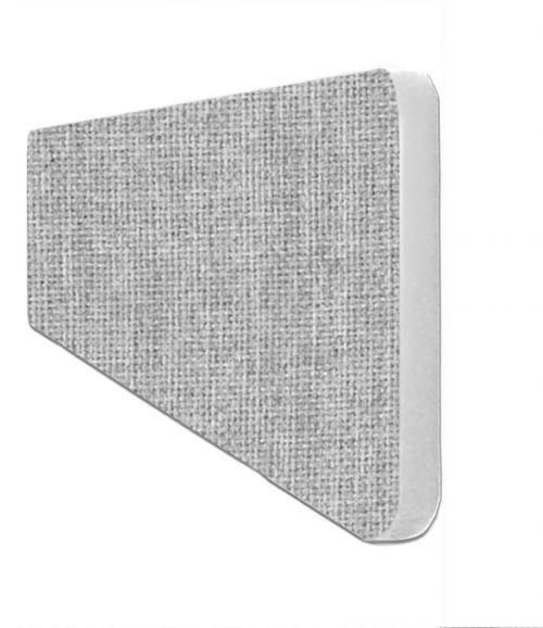 Impulse Plus Oblong 300/600 Desktop Screen Rounded Corners Light Grey Fabric Light Grey Edges