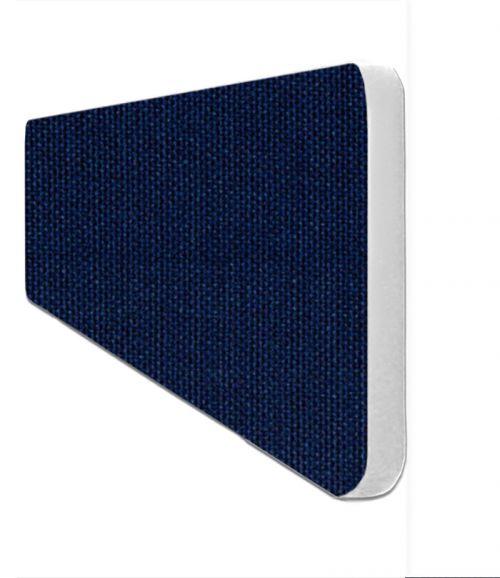 Impulse Plus Oblong 300/600 Desktop Screen Rounded Corners Royal Blue Fabric Light Grey Edges