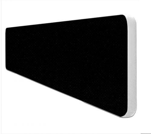 Impulse Plus Oblong 300/1000 Desktop Screen Rounded Corners Black Fabric Light Grey Edges
