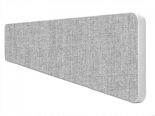 Impulse Plus Oblong 300/1600 Desktop Screen Rounded Corners Light Grey Fabric Light Grey Edges