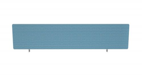 Impulse Plus Oblong 300/1600 Desktop Screen Rounded Corners Sky Blue Fabric Light Grey Edges