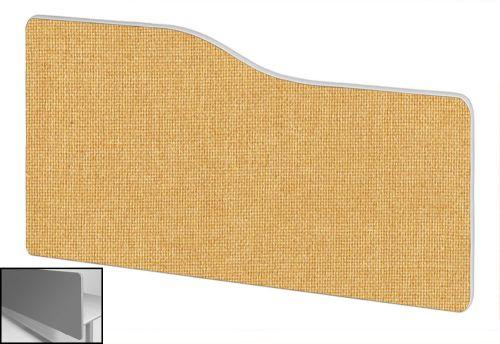 Impulse Plus Wave 400/600 Backdrop Screen Rounded Corners Beige Fabric Light Grey Edges
