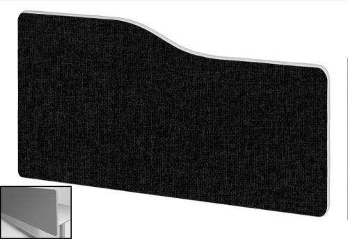 Impulse Plus Wave 400/800 Backdrop Screen Rounded Corners Black Fabric Light Grey Edges