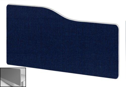Impulse Plus Wave 400/800 Backdrop Screen Rounded Corners Royal Blue Fabric Light Grey Edges