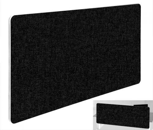 Impulse Plus Oblong 400/1000 Backdrop Screen Rounded Corners Black Fabric Light Grey Edges