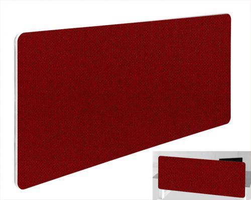 Impulse Plus Oblong 400/1500 Backdrop Screen Rounded Corners Burgundy Fabric Light Grey Edges