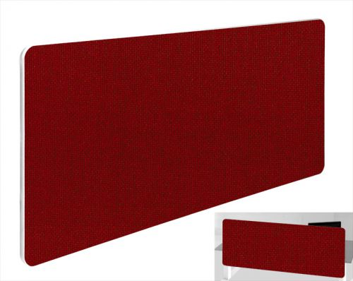 Impulse Plus Oblong 400/1600 Backdrop Screen Rounded Corners Burgundy Fabric Light Grey Edges