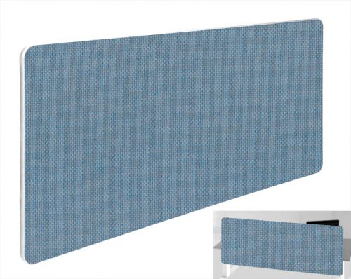Impulse Plus Oblong 400/1600 Backdrop Screen Rounded Corners Sky Blue Fabric Light Grey Edges