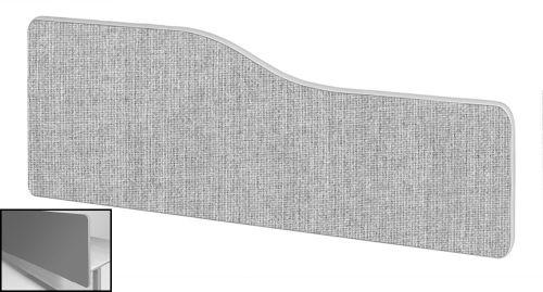 Impulse Plus Wave 400/1600 Backdrop Screen Rounded Corners Light Grey Fabric Light Grey Edges