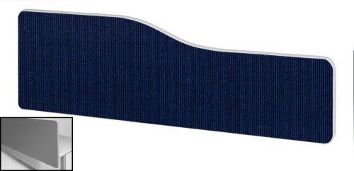 Impulse Plus Wave 400/1800 Backdrop Screen Rounded Corners Royal Blue Fabric Light Grey Edges