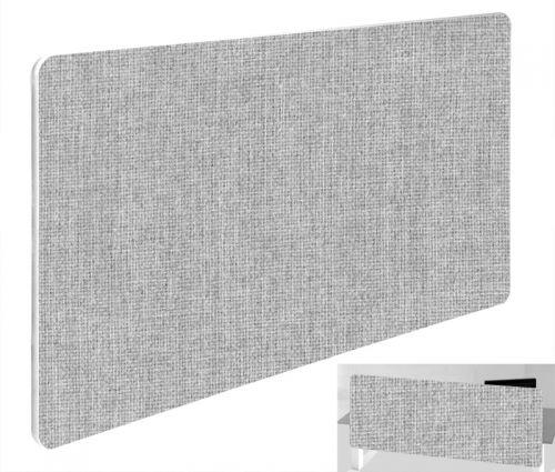 Impulse Plus Oblong 300/600 Backdrop Screen Rounded Corners Light Grey Fabric Light Grey Edges