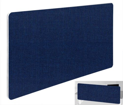 Impulse Plus Oblong 300/600 Backdrop Screen Rounded Corners Royal Blue Fabric Light Grey Edges