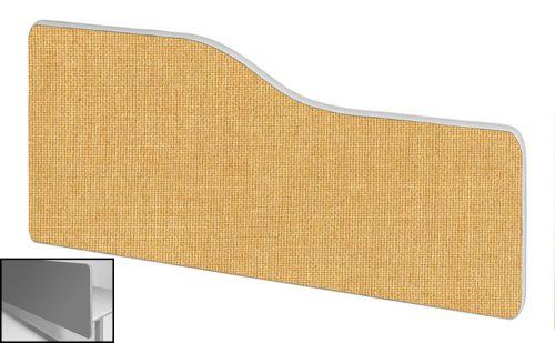 Impulse Plus Wave 300/600 Backdrop Screen Rounded Corners Beige Fabric Light Grey Edges