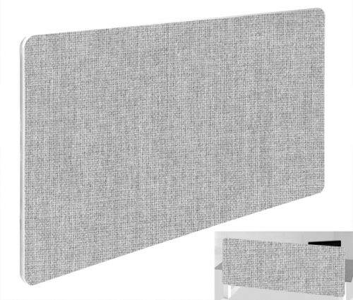 Impulse Plus Oblong 300/800 Backdrop Screen Rounded Corners Light Grey Fabric Light Grey Edges