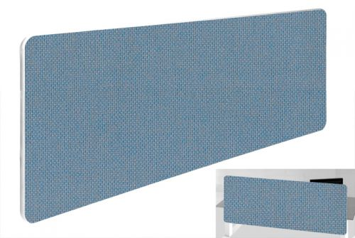 Impulse Plus Oblong 300/1000 Backdrop Screen Rounded Corners Sky Blue Fabric Light Grey Edges