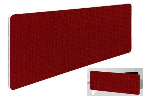 Impulse Plus Oblong 300/1200 Backdrop Screen Rounded Corners Burgundy Fabric Light Grey Edges