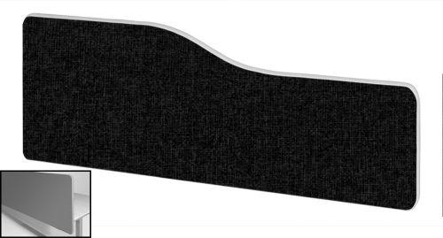 Impulse Plus Wave 300/1200 Backdrop Screen Rounded Corners Black Fabric Light Grey Edges