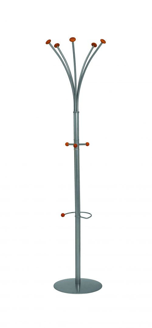 Classic Silver Steel Office Coat Stand