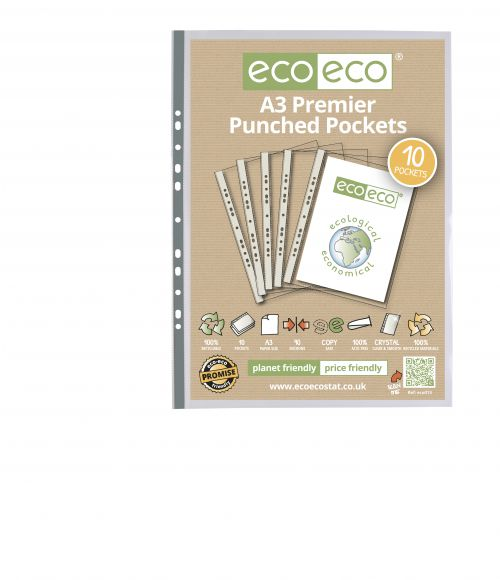 A3 100% Recycled Bag 10 Multi Punched Pockets