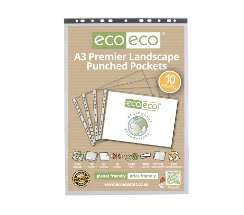 A3 100% Recycled Bag 10 Multi Punched Pockets (Landscape)