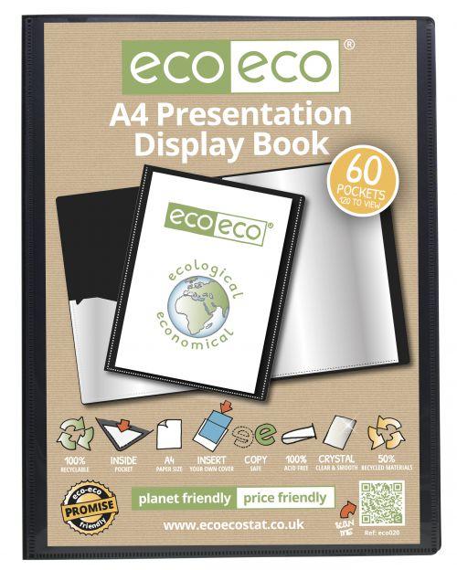 A4 50% Recycled 60 Pocket Presentation Display Book