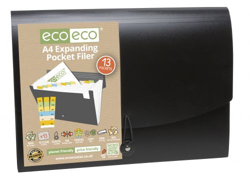A4 50% Recycled 13 Pocket Expanding File