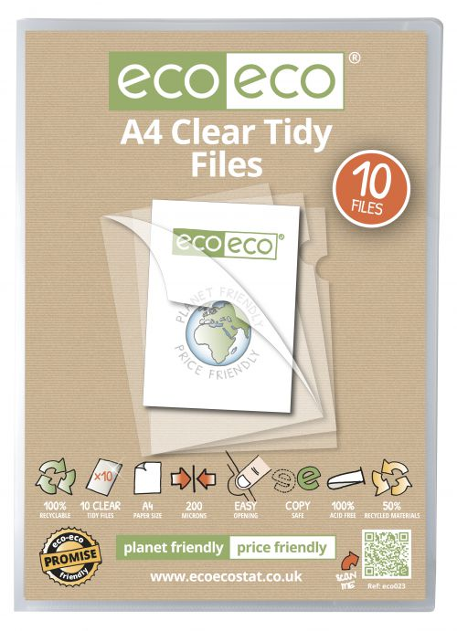 A4 50% Recycled Bag 10 Tidy Files