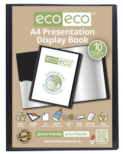 A4 50% Recycled 10 Pocket Presentation Display Book