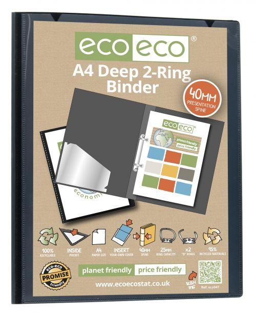 A4 95% Recycled Presentation Deep Ring Binder