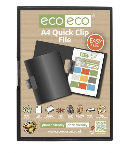 A4 95% Recycled Quick Clip File