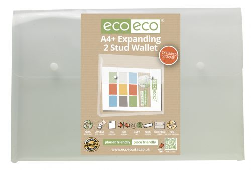 A4+ 95% Recycled Expanding 2 Stud Wallet