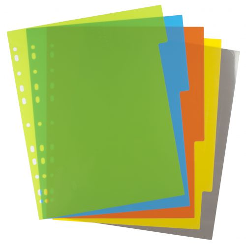 A4 50% Recycled Set 5 Wide Index File Dividers