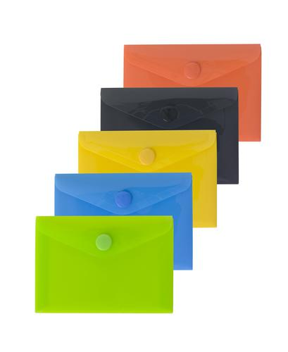 Pack 5 A7 50% Recycled Colour Press Stud Wallets