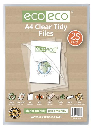 A4 50% Recycled Bag 25 Clear Tidy Files