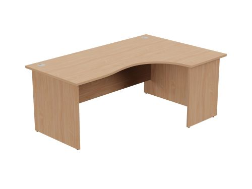 Ashford Panel Leg 1800/800 x 1200/600mm R/H Crescent Desk- Beech