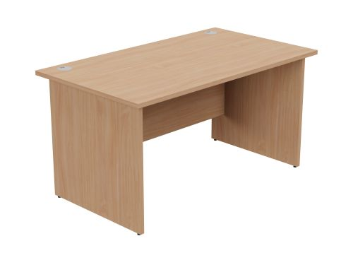 Ashford Panel Leg 1400mm x 800mm Straight Desk - Beech