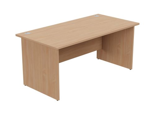 Ashford Panel Leg 1600mm x 800mm Straight Desk - Beech