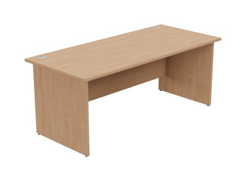 Ashford Panel Leg 1800mm x 800mm Straight Desk - Beech